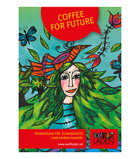 COFFEE FOR FUTURE Plakat A1 Weltladendesign