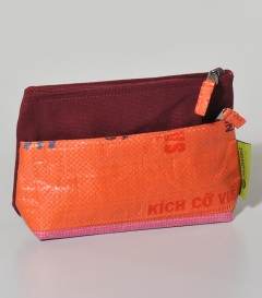 KOSMETIKTASCHE Reissack orange, 17x5,5xh13cm