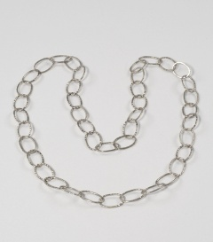 MESSINGRINGCOLLIER silber 100cm