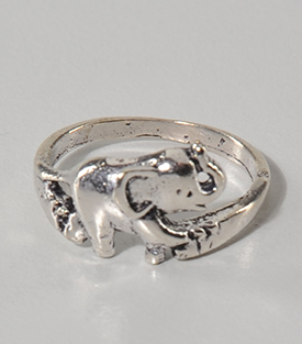 FINGERRING Elefant Messing B 1cm verstellbar