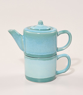 TEA FOR ONE SET aquamarin dm9xH16cm