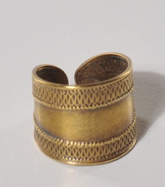 FINGERRING Messing antikgold B 1,5cm verstellbar