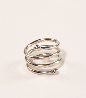 FINGERRING Spirale Upcycling-Messingguss dm 17,5