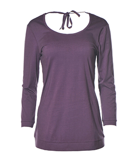 SHIRT 3/4 ARM purple 100%BW Jersey 130g