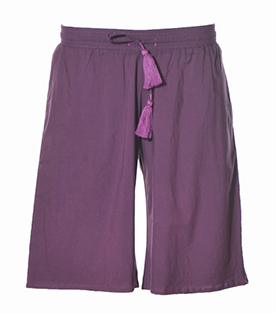 SHORTS purple 100% BW Voile 80g